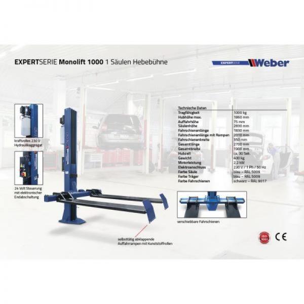 Enpelarlyft Weber Expert Series Monolift 1000